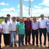 Lideranças políticas de São Julião recepcionam governador em visita aos Parques Eólicos em Simões e Marcolândia