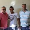 Jogador Simonense do Vila nova de Goiás Mateus Anderson visita sua  terra  natal