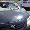 Carro fica parcialmente destruído após colidir com vaca