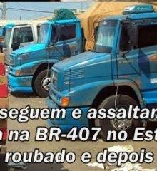 Bandidos perseguem e assaltam verdureiros de Paulistana