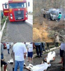 Dois homens de Pio IX morrem em grave acidente de carro na BR-116