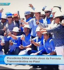 Veja fotos da visita da Presidente Dilma Rousseff nas obras da Ferrovia Transnordestina em Paulistana