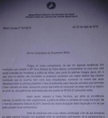 """Ministério Público determina suspensão de """"Leilões"""" na Comarca de Padre Marcos"""
