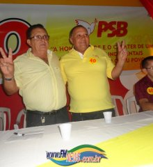 Convenção partidária homologa candidaturas de Nonato e Pereira em Francisco Macedo.