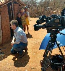 Equipe da TV Globo está gravando matéria para o 'Globo Rural' em Paulistana