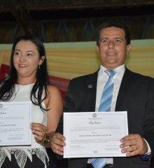 Vianney e Zulene são diplomados prefeito e vice de Caldeirão Grande