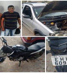 Polícia recupera produtos roubados e prende acusados de arrombar residências na zona rural de São Julião