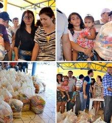2,8 toneladas de alimentos arrecadados no aniversário de Jacobina são distribuídas para famílias carentes