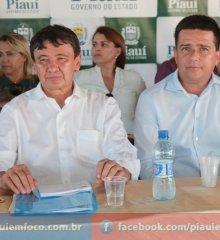 Em Caldeirão Grande, governador Wellington Dias e prefeito João Vianney inauguram escola padrão FNDE