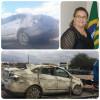 Carro tomba no Pernambuco com a presidente da Câmara de Monsenhor Hipólito a bordo