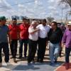 Preocupados com a seca, prefeitos da região visitam 'Barragem do Estreito' com o senador Elmano Ferrer