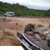 Carro modelo Onix capota entre os municípios de Jaicós e Campo Grande