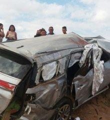 Família de Parambu no Ceará que ia para o Espírito Santo tomba SW4 próximo a Monsenhor Hipólito; esposa morreu na hora