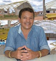 Em Campo Grande do Piauí, prefeito Baiá inicia a cobertura da quadra de esportes do Povoado Canela de Velho