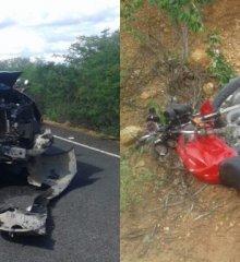 Em Campo Grande do Piauí, colisão entre Hilux e motocicleta na PI-229 deixa uma vítima fatal