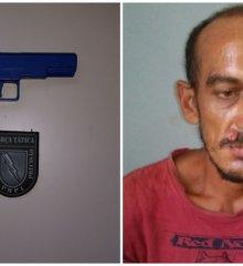 Em Paulistana, acusado de matar policial é preso após ameaçar população com arma de brinquedo