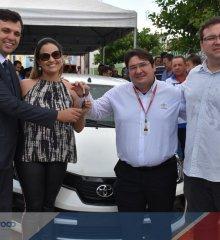Em Santo Antônio de Lisboa, prefeito Welington Carlos realiza comemoração modesta no aniversário da cidade; mas entrega um veiculo 0 km a população e recupera mais dois