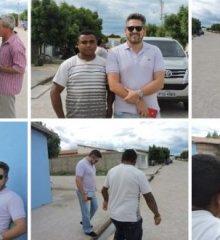 Em Campo Grande do Piauí, Deputado Pablo Santos visita ruas beneficiadas com calçamento no município
