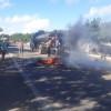 Em Araripina-PE e Marcolândia-PI caminhoneiros bloqueiam BR-316 em protesto contra aumento nos combustíveis
