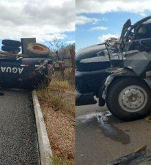 Motorista fica ferido após caminhão tombar entre os municípios de Jaicós e Patos