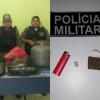 Em Marcolândia, Polícia Militar recupera objetos furtados e prende dois homens por porte ilegal de droga