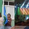 Em Fronteiras, shows de Chicabana e Kátia Cilene abrem primeira noite de festas; Prefeita Maria José e Secretários fizeram o hasteamento das bandeiras nesta manhã de sábado