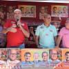 Ex-prefeito José Neci e lideranças locais recebem os candidatos Franzé Silva e Assis Carvalho junto com correligionários  em São Julião