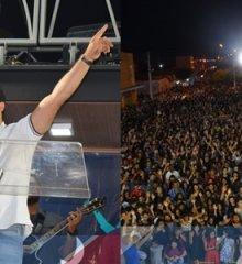 """Em Belém do Piauí, Cantor Samuel Mariano realiza mais uma edição do projeto """"Quero Almas""""; Mais de cinco mil pessoas estiveram presentes"""