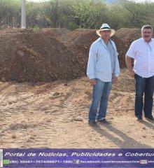 Em Simões, Prefeito Zé Wlisses acompanha inicio da construção de praça do bairro Soledade II