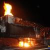 Em Paulistana, carreta pega fogo na BR-407 e toda a carga é perdida