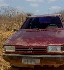 Condutor perde controle de Fiat Uno e capota na Zona Rural de Belém do Piauí