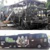 Ônibus de banda de forró é incendiado e instrumentos destruídos em ataque criminoso no Ceará