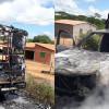 Ambulância de Campo Grande do Piauí incendeia próximo a cidade de Picos; chamas consumiram o veículo