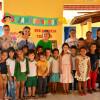 FRONTEIRAS| Prefeita Maria José e Secretária Verônica Ribeiro distribuem fardamento para alunos da escola municipal Conceição de Maria