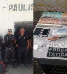 Em Paulistana, Força Tática e Polícia Civil prendem dois homens com drogas e arma de fogo