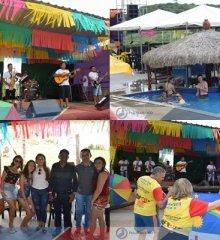 Orquestra de frevo Ribinha Ribeiro anima primeiro dia de Carnaval do Tibungo Park Aquático