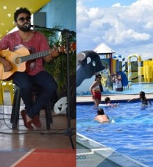 Com musica ao vivo de Aelson Carvalho, Tibungo Park recebe banhistas das mais diversas cidades do estado e região
