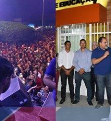 Com show da banda Saia Rodada, inaugurações de importantes obras, e entrega de premiações, Caldeirão Grande encerra as festividades de 27 anos do município