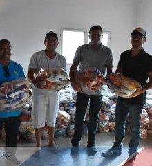 Prefeito Márcio Alencar distribui 400 cestas básicas de alimentos para população do Munícipio, os alimentos foram arrecadados no aniversário da cidade de Alegrete