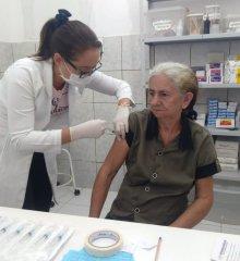 ALEGRETE   Saúde atinge novamente a meta na campanha de vacinação contra a influeza