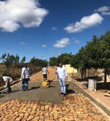 Em Santo Antônio de Lisboa, prefeito Welington Carlos retoma obras de 3.000m de calçamento no povoado Torrões