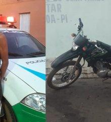 Em Santo Antônio de Lisboa, Polícia Militar recupera moto furtada e prende acusado do crime