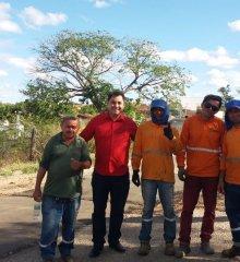PADRE MARCOS |Após reivindicação do prefeito Valdinar Silva, recuperação da PI-243 de Jaicós à Francisco Macedo é iniciada