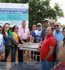 Simões 65 anos| Prefeito Zé Wlisses entrega Passagem Molhada, poço tubular, e abre o primeiro dia de festividades alusivas ao aniversário da Cidade