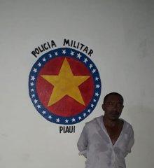 Em Santo Antônio de Lisboa, PM efetua prisão de foragido da cidade de Fortaleza (CE)
