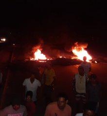 Em Marcolândia, BR -316 segue interditada por por funcionários e donos de fábrica de farinha, após MPT fiscalizar