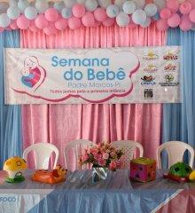 PADRE MARCOS | Semana do bebê teve início com testes, triagem para vacinas e recreação infantil