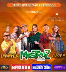 SÃO JULIÃO | Mastruz com Leite e Lamarck farão show gratuito nesta sexta-feira (04) nos festejos de São Francisco no povoado Mandacaru
