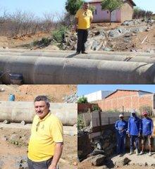 Em Simões, Prefeito Zé Wlisses autoriza construção de via com bueiros entre os bairros SOLEDADE I E SOLEDADE II