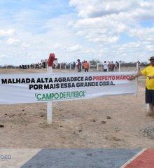 Alegrete|  prefeito Márcio Alencar doa terreno para campo de futebol em Malhada Alta: Nova Arena Malhada Alta recebeu investimos como vestiários e muro